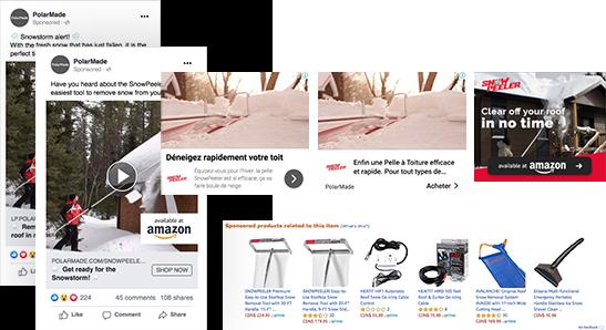 Publicité Amazon et hors Amazon