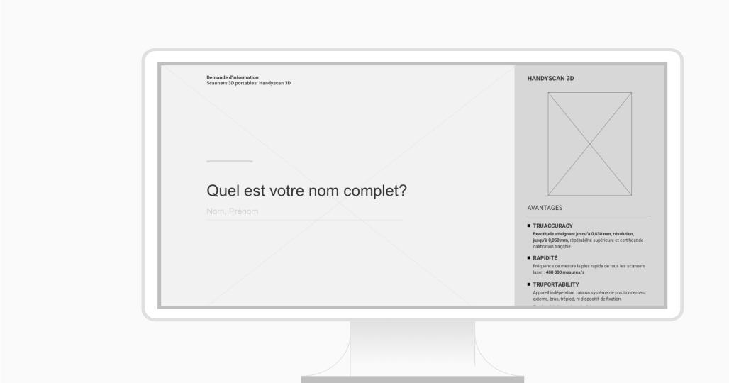 Maquette fonctionnelle d'un formulaire Web