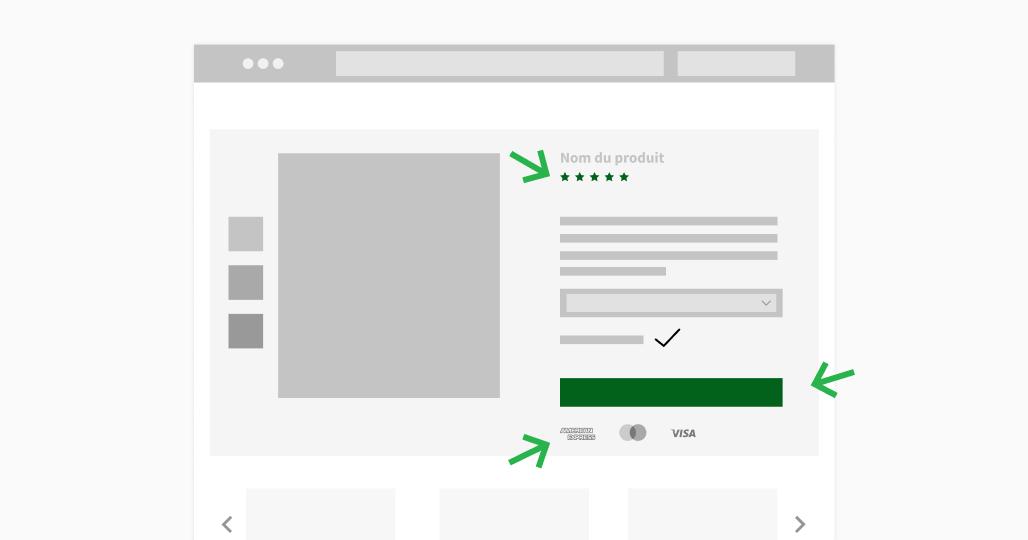 """Cliquer sur le bouton """"acheter"""" sur un site de e-commerce"""