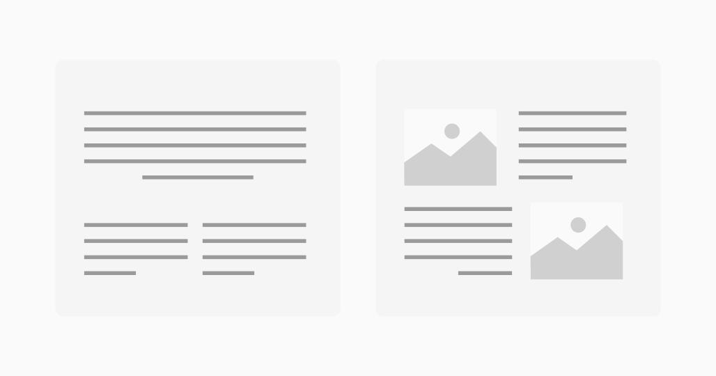 design et structure d'une infolettre